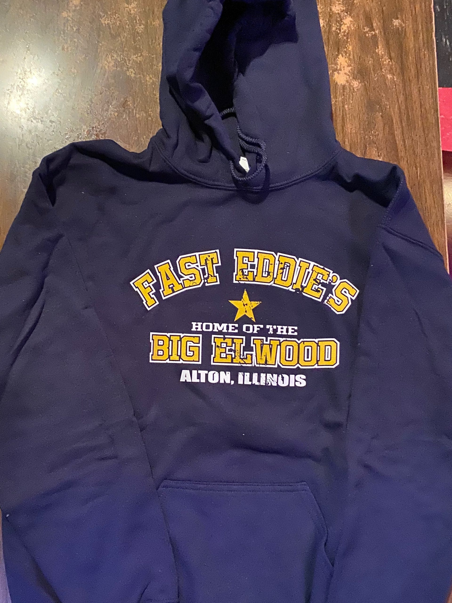 home-of-the-big-elwood-navy-hooded-sweatshirt